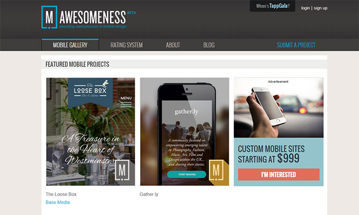 Awesomeness - webdesign mobiles