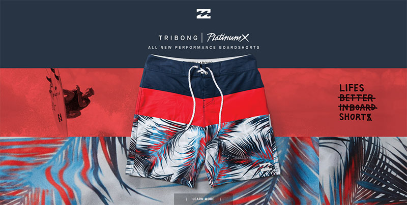 Webdesign Billabong 2016