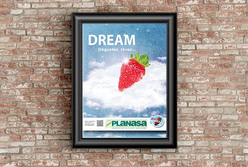 Affiche fraises Dream