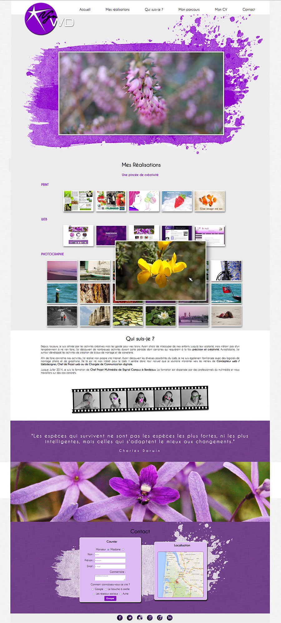 Site web html css