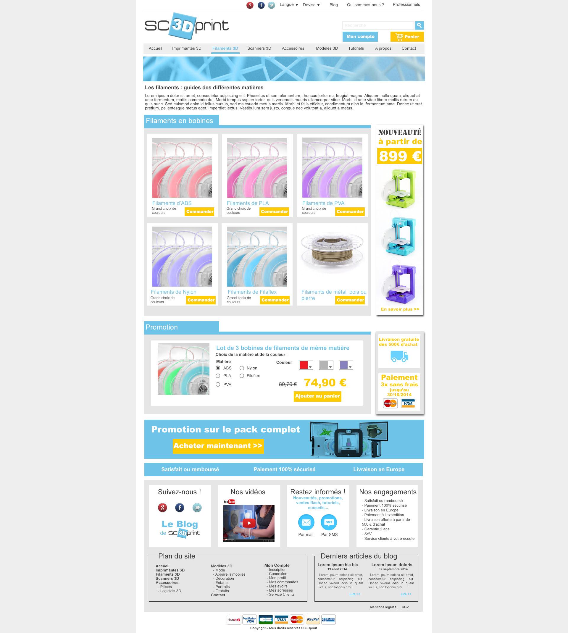 webdesign page rubrique