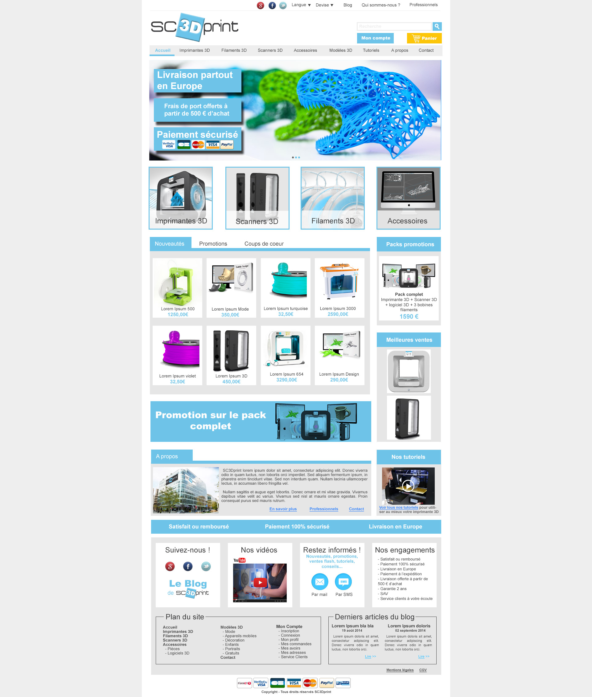 Webdesign imprimantes 3D